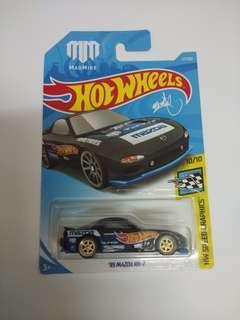 Hotwheels Mazda Rx7 custom alloy rubber tyre