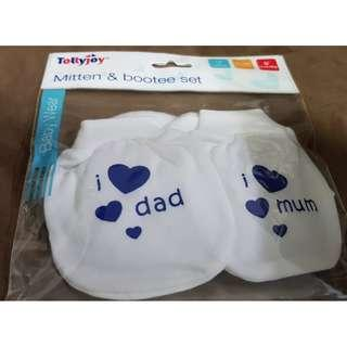 TOLLYJOY SOFT AND WARM MITTEN AND BOOTEE SET, FOC MAILING
