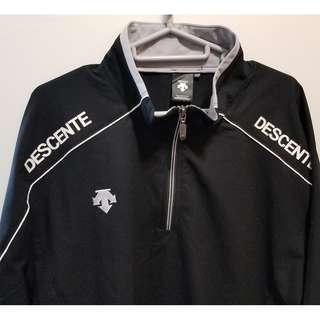 Descente sports shirt XO XL 長袖運動衫 black mizuno le coq sportif nike puma