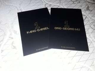 Kang Daniel and Ong official lip card