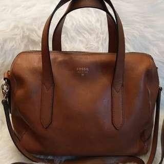 Fossil Satchel Brown  Good condition