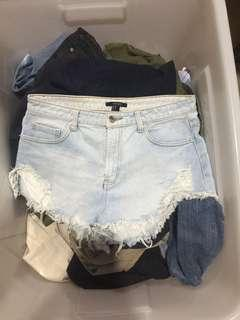 F21 Tattered Shorts