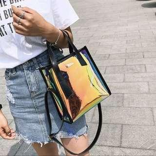 🚚 (PO) Holographic Sling Bag