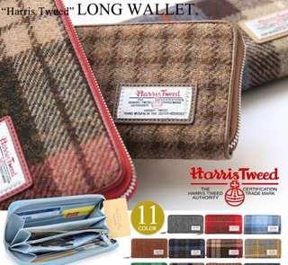 (包郵) Harris Tweed long wallet 英倫格仔長銀包