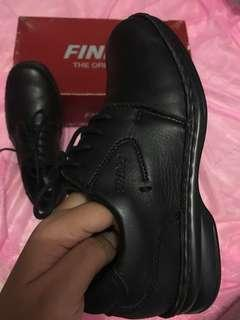 NEW Sepatu anak Kulit Formal Leather shoes Hitam Dark Black size 33