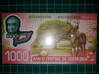 [America] Costa Rica 1000 Colones Polymer Note (2013 Series)