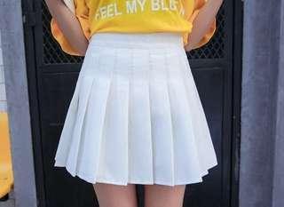 rok tennis skirt putih white