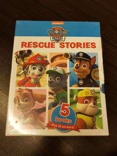 Nickelodeon Paw Patrol Rescue Stories 5 Book Slipcase