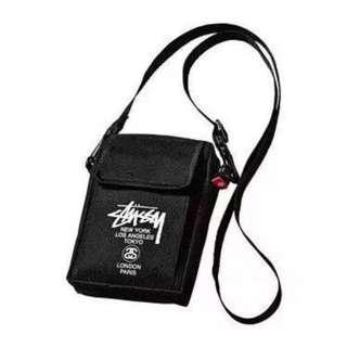 Instock! STUSSY Nylon Black Sling Bag Pouch *Japanese Magazine GWP* ASC3196 + Free Normal Postage