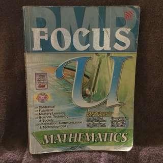 PMR MATHEMATICS (FOCUS U)
