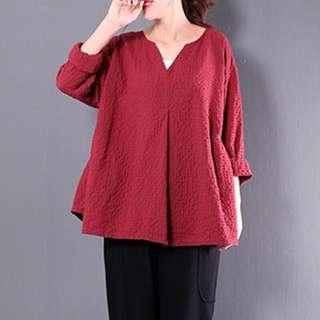 Blouse in Red/Black Checkered