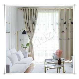 🚚 Chandelier Printed Blackout Curtain (130cm by 200cm)