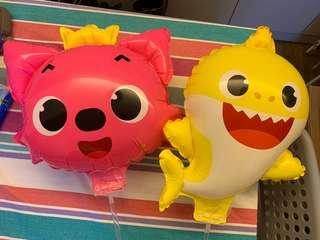 (New) baby shark pinkfong balloon 鯊魚汽球一套2個