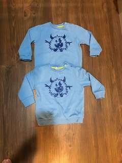 🚚 (家有雙胞胎)ESPRIT baby blue刷毛上衣