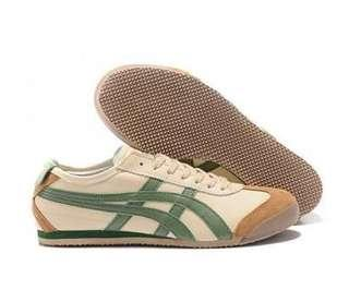 New Asics Onitsuka Tiger Mexico 66 Unisex Beige/Green/Brown shoes