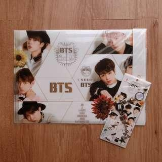 BTS UNOFFICIAL GOODS BUNDLE (L-HOLDER & KEYRING