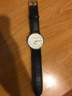 🚚 TIVOLINA 男錶 手錶 藍寶石鏡片 皮帶錶 簡約