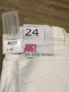 Juicy Couture Mid Rise Skinny Jeans