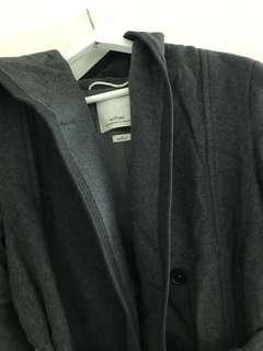 Aritzia Wilfred Grey Wool Coat