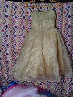toddler-2yr old gold gown