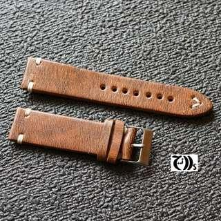 Brown Distressed Calf Leather Watch Strap 18/20mm