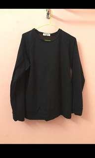 Unisex Black Sweatshirt