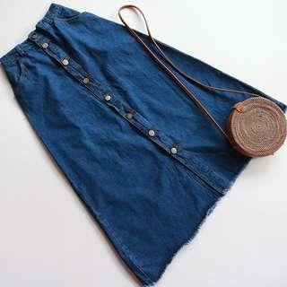 Rok jeans /Long skirt jeans button