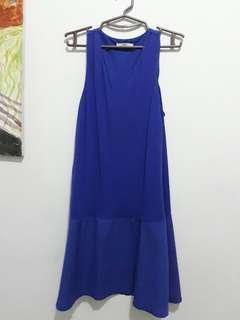 Mango Blue Sleeveless Dress