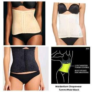 MAIDEN FORM Shapewear Tummy Waist - Black/Cream/White - MAIDENFORM WOMEN SHAPEWEAR WAIST NIPPER FIRM