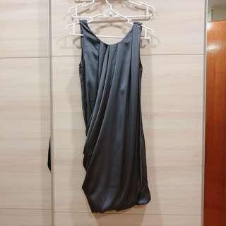 Grey Loose Hooded Dress