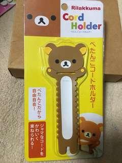鬆弛熊 cord holder 電線 整理 夾 耳筒 headphone