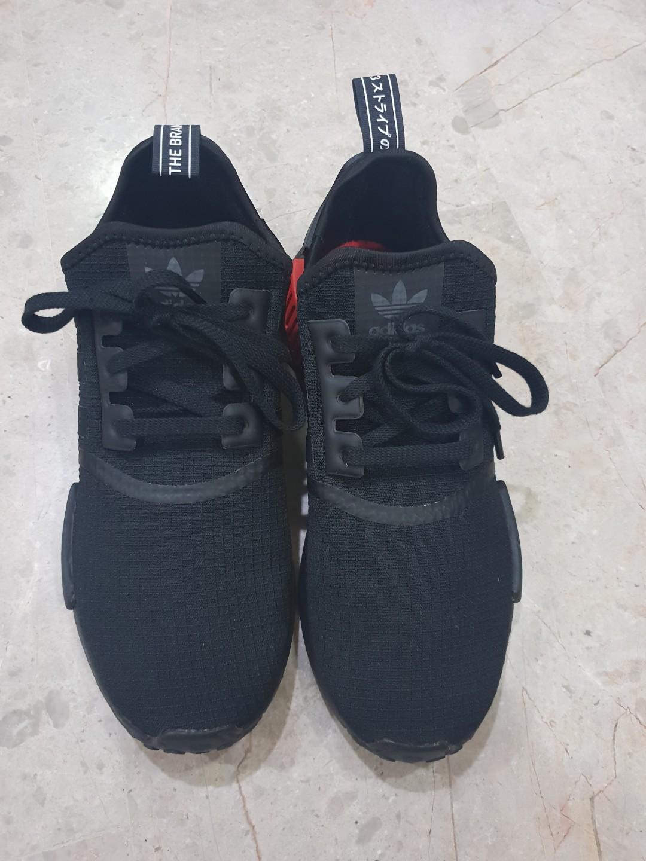 12ca29049 Adidas NMD R1 Core Black   lush Red