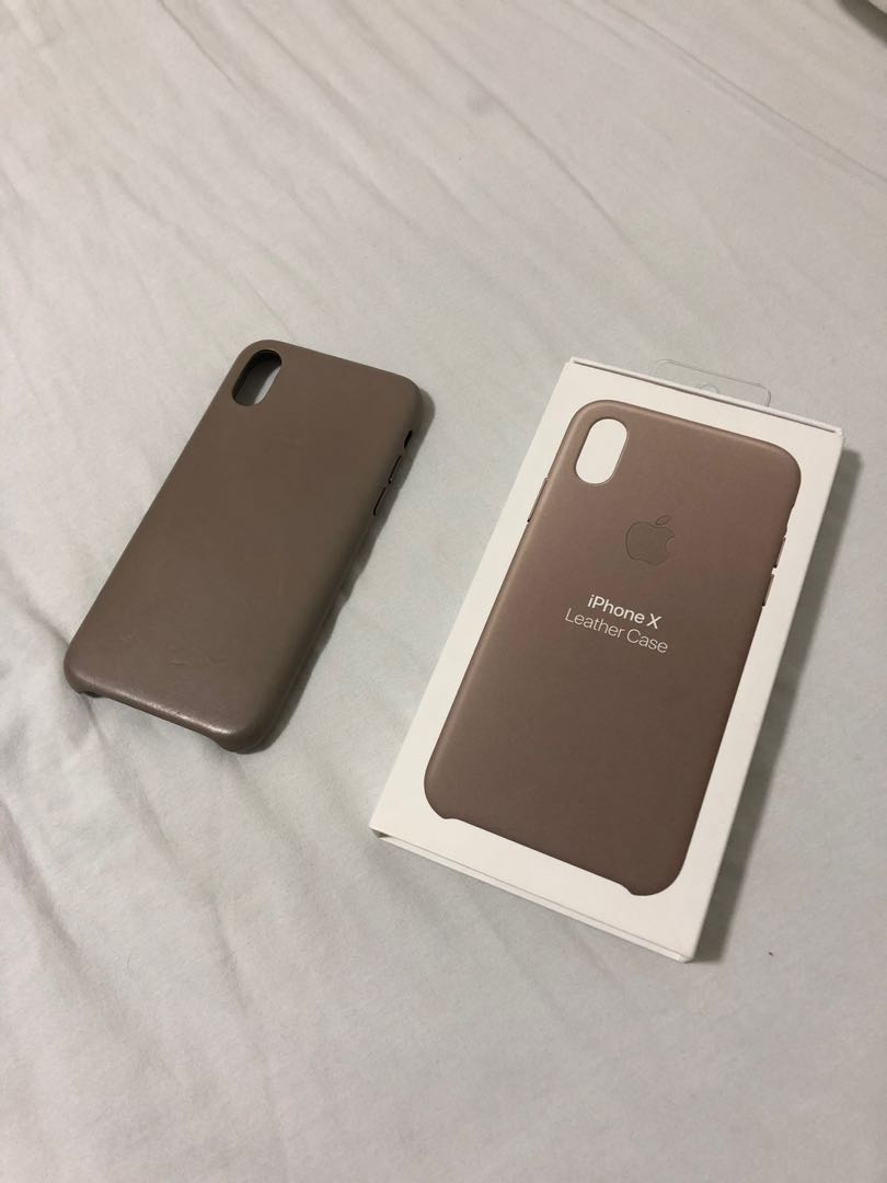 separation shoes 025e7 14679 Apple iPhone X Leather Case (Taupe)