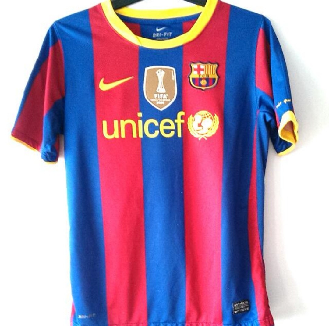 best sneakers ca3c3 ac2b7 Authentic Barcelona Home Jersey Youth Large Size Messi 10 ...