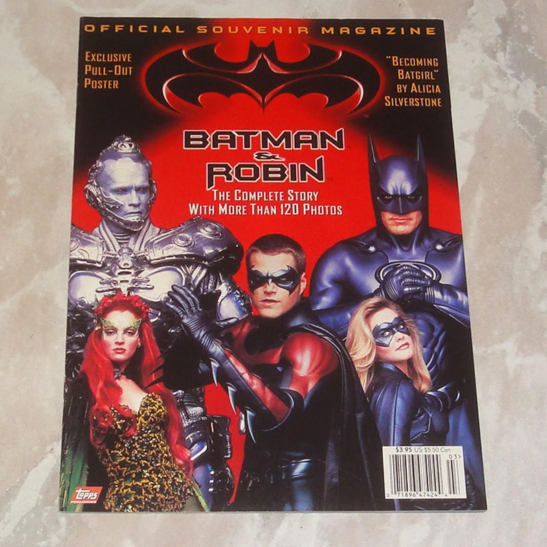 Batman Robin Official Souvenir Movie Magazine 1997 Batmobile Mr Freeze Poison Ivy Arnold Schwarzenegger Uma Thurman George Clooney Chris Odonnell Alicia
