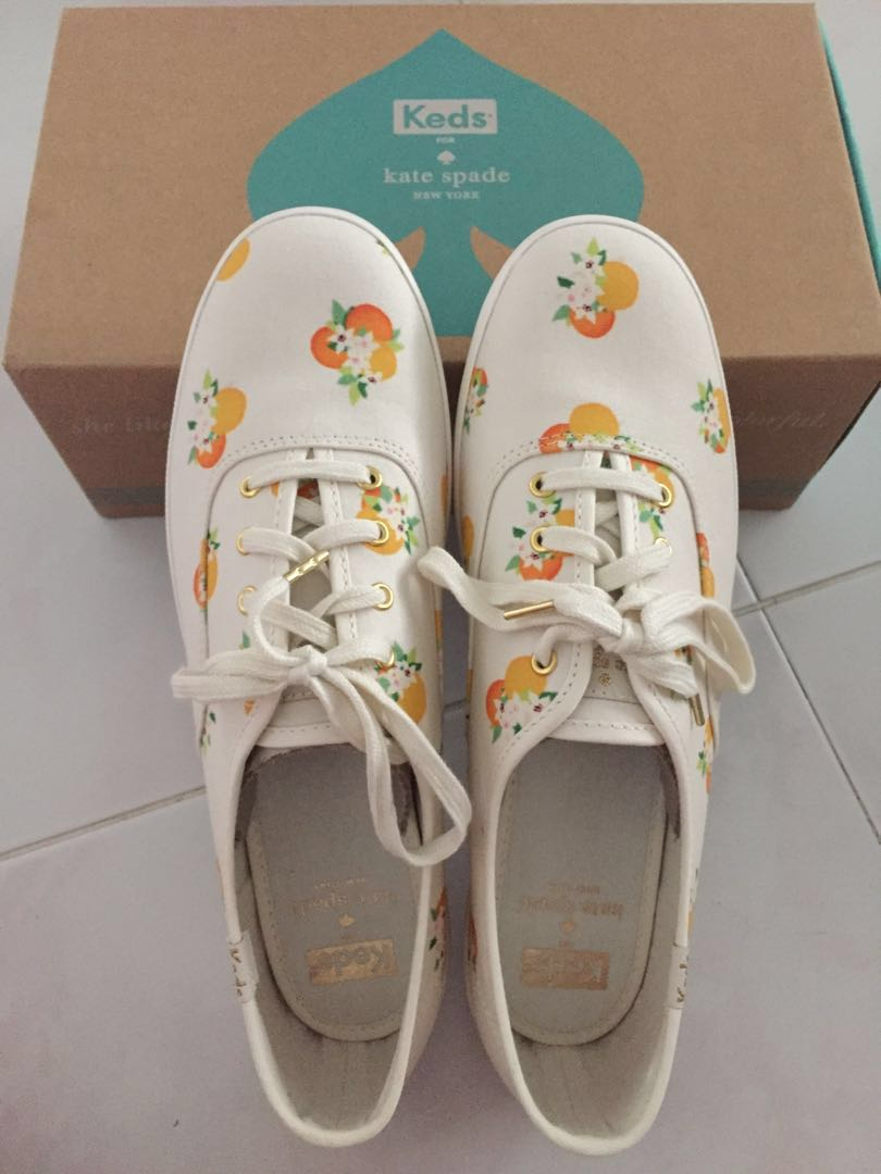 82df000247e02 BN Authentic Kate Spade X Keds Orange Blossoms Sneakers (kate spade ...