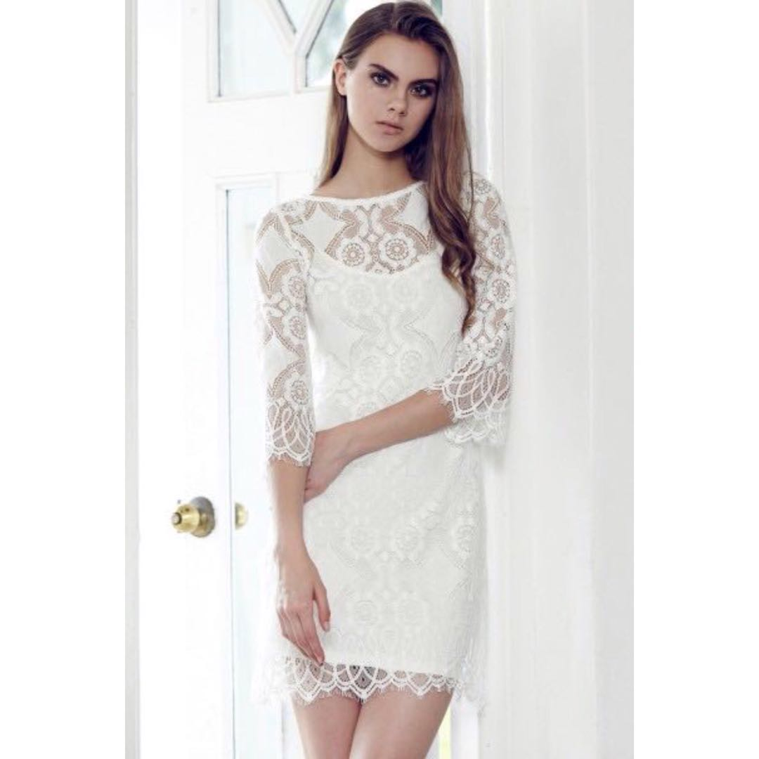 81170ac89c1 BN BRIDGE FASHMOB Love Lace Two-Piece Dress