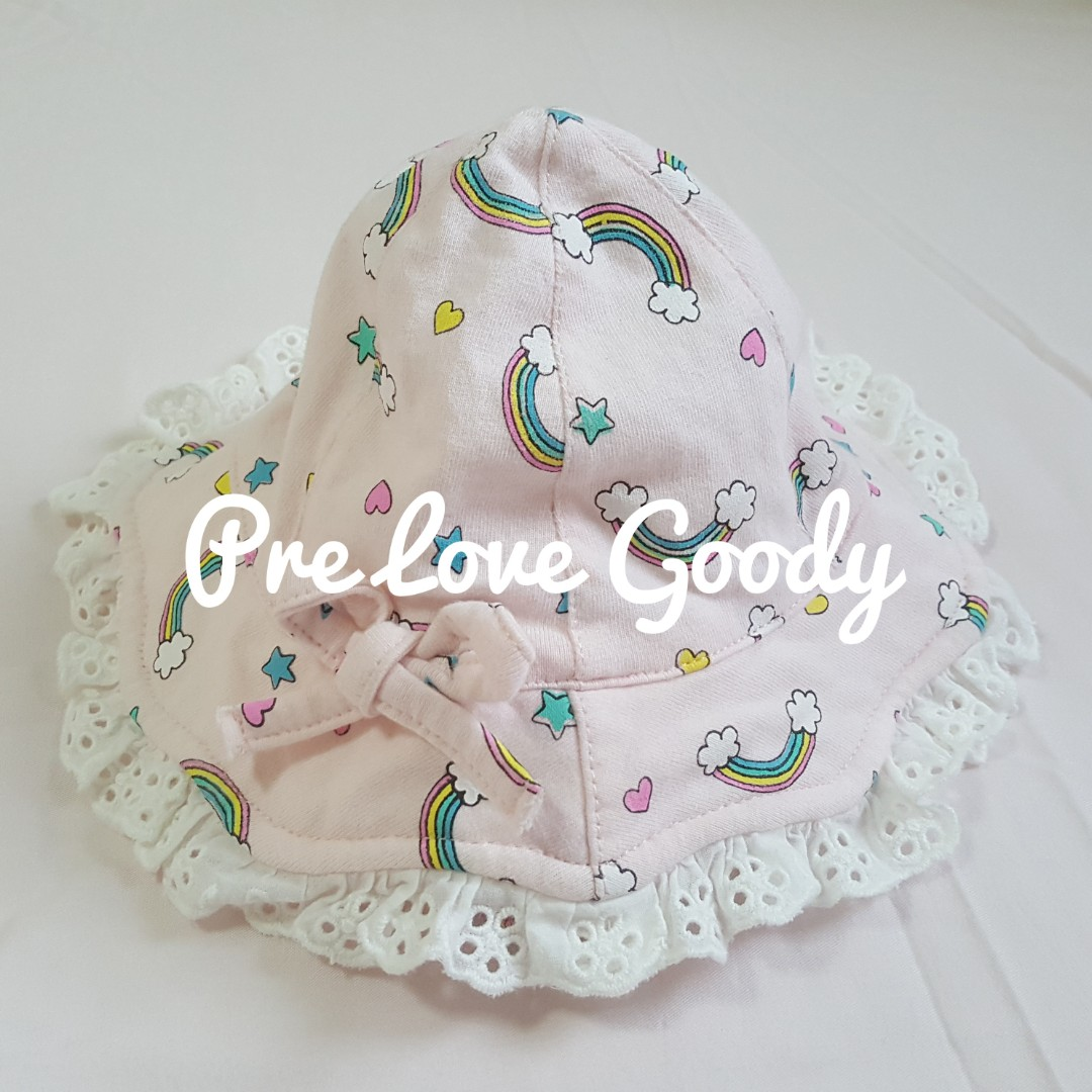 34fde4e77 [BN] Pink with small rainbow designs Baby Hat by Fox Babies Singapore