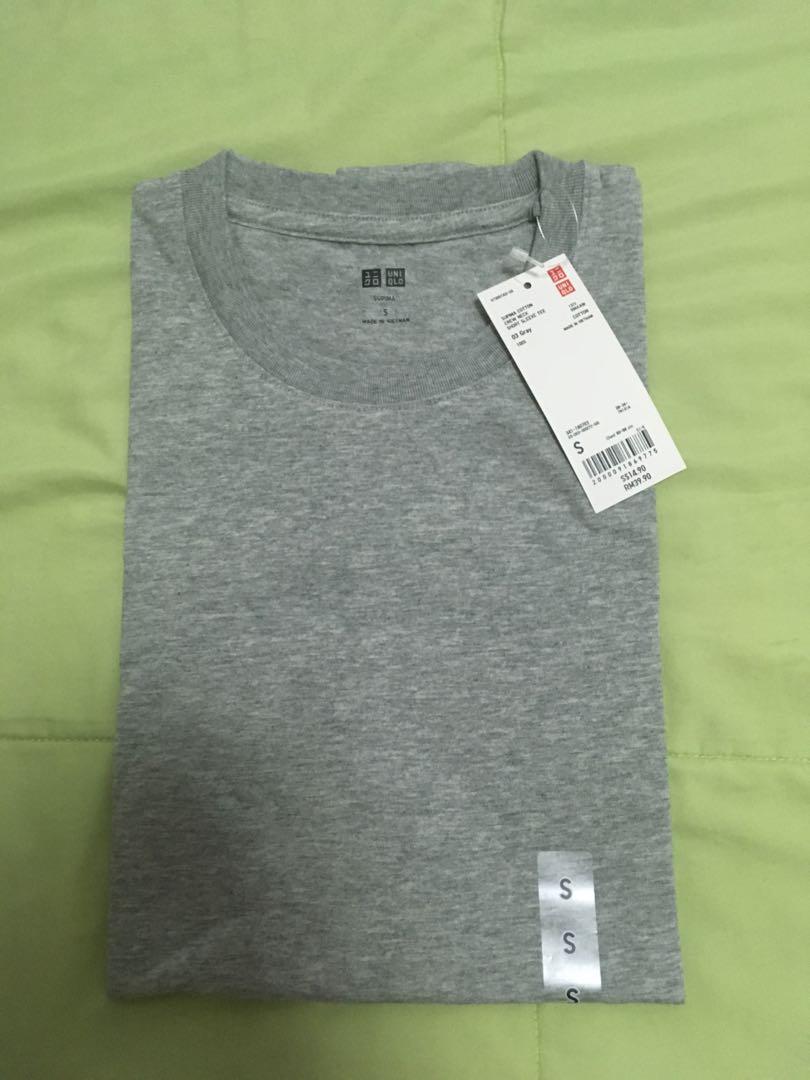 a54fc3fe1f653e Brand New with Tags Uniqlo Grey Supima Cotton Tee (Size S)