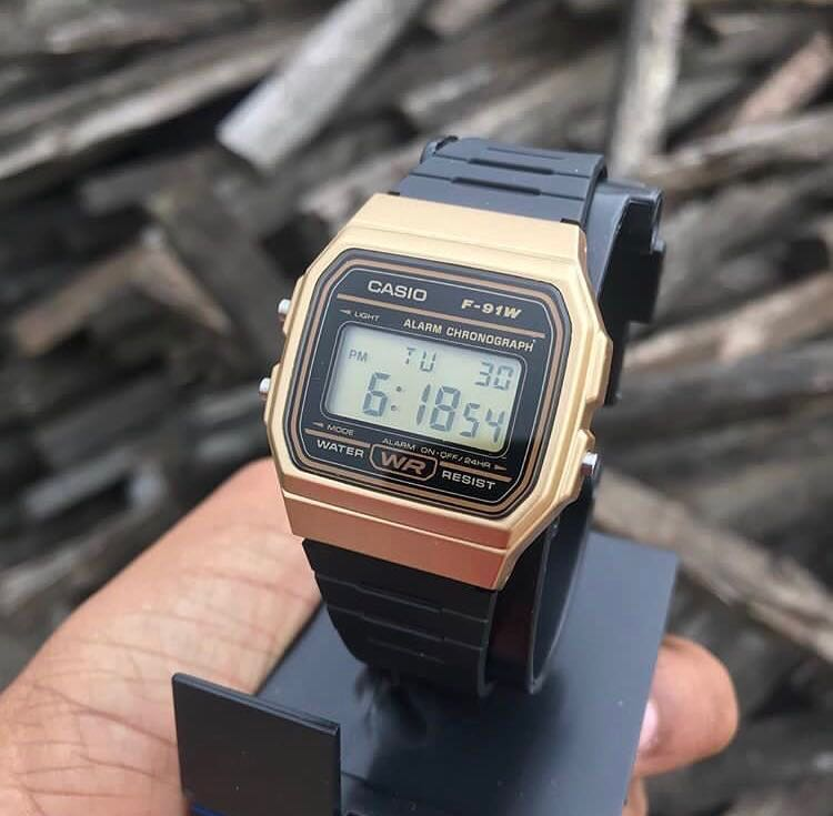 27659b7de Casio Digital Watch gold and black, Luxury, Watches on Carousell