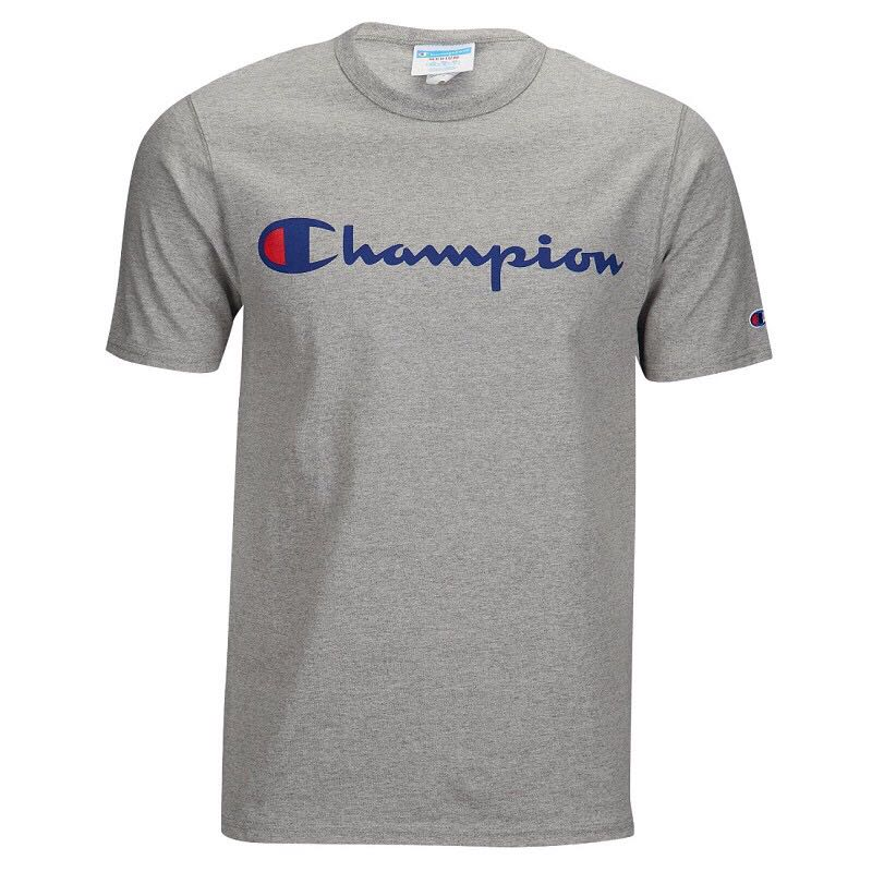 c21b8636628a 🌈Champion Script Tee, Men's Fashion, Clothes, Tops on Carousell