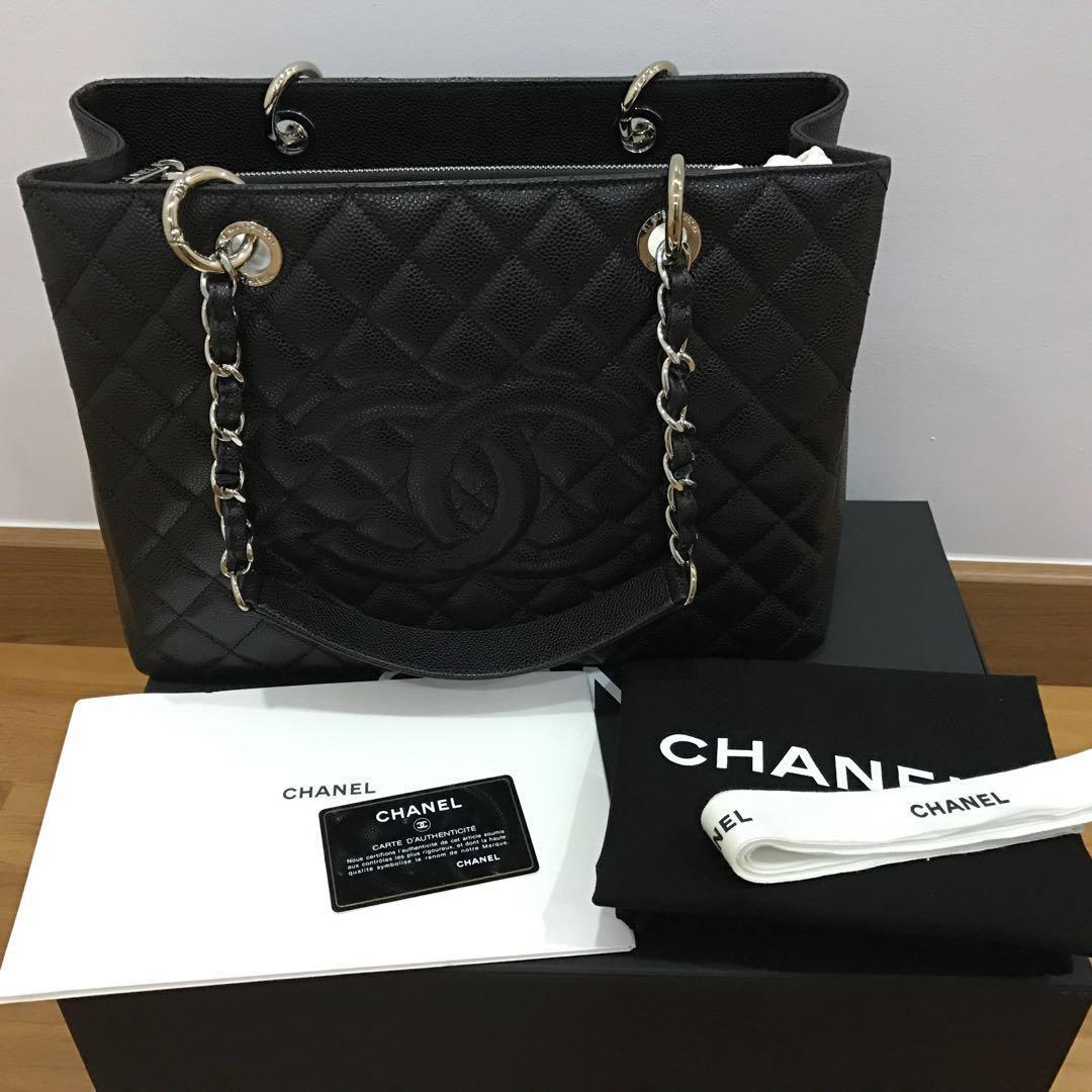 33a63176615a Chanel GST Authentic silver hardware, Barangan Mewah, Beg dan Dompet di  Carousell