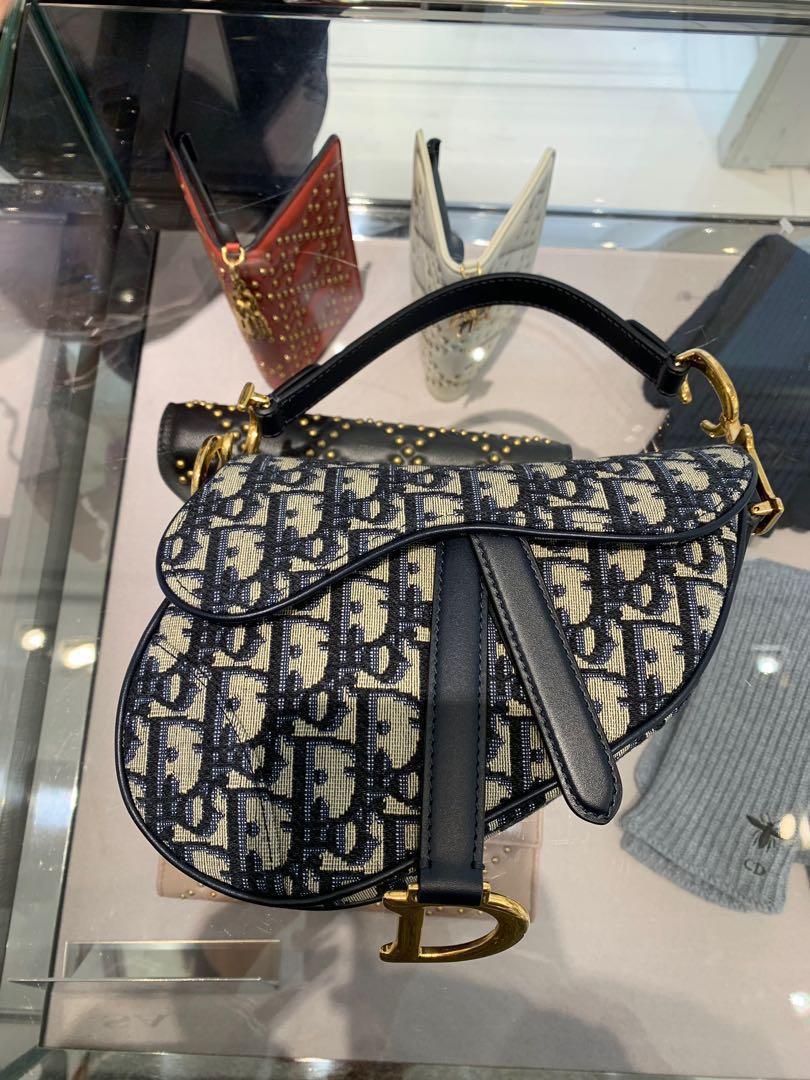 5f117c3497cf Dior mini oblique saddle