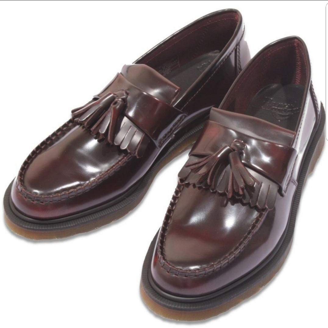2b422a234b3 Dr Martens Adrian Tassel Loafers In Cherry Red