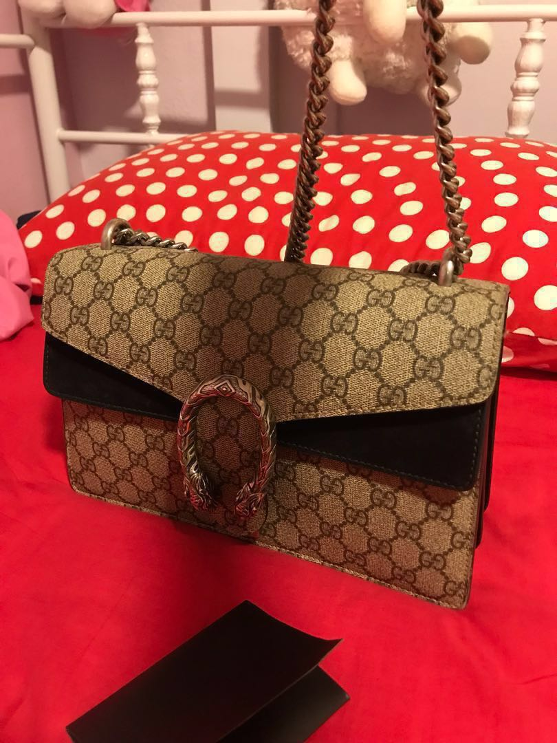 87db3dfd3 GUCCI DIONYSUS SMALL BAG IN BLACK(AUTHENTIC), Women's Fashion, Bags ...