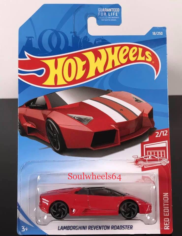 Hot Wheels 2019 Red Edition Lamborghini Reventon Roadster 02 12