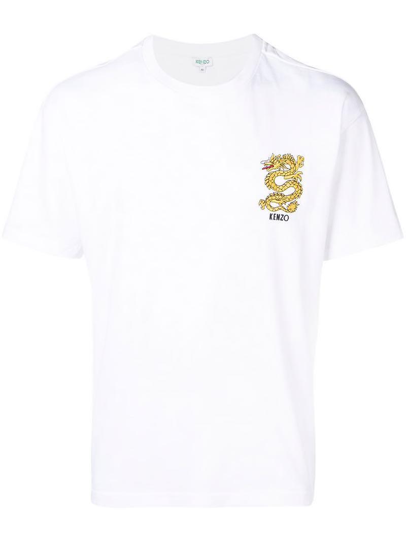bd06caf0319b Kenzo Dragon Logo Tee Shirt, Men's Fashion, Clothes, Tops on Carousell