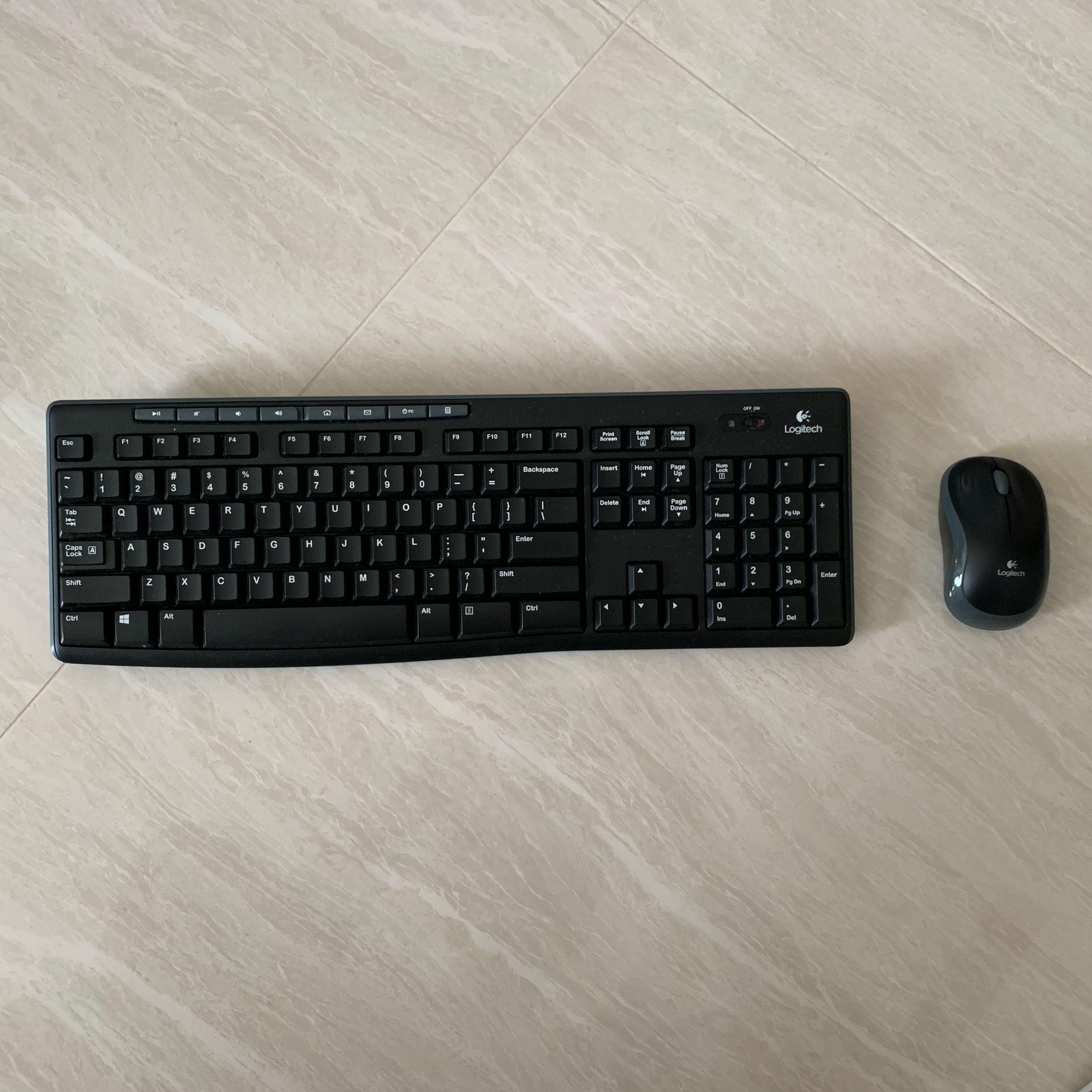 2028351b546 Logitech Wireless Keyboard K270 + M185 Wireless Mouse, Electronics ...