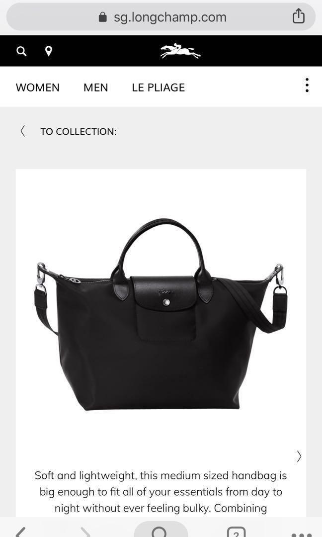 7a363baad LONGCHAMP LE PLIAGE NEO SIZE M, Women's Fashion, Bags & Wallets ...