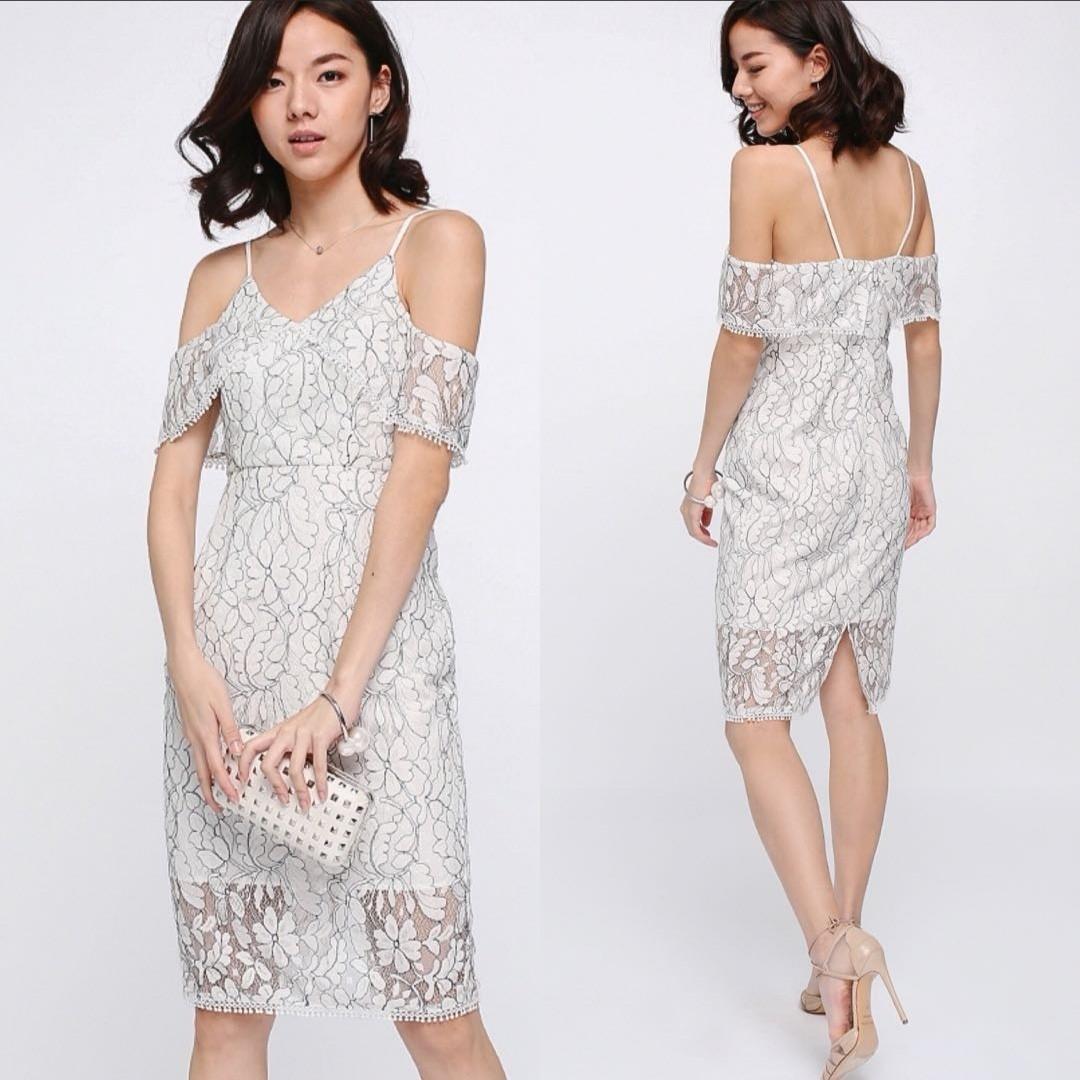 Love Bonito Marish Lace Off Shoulder Dress